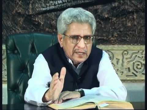 Scholar Javed Ghamidi giving a talk